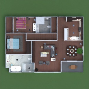 floorplans apartment terrace furniture decor bathroom bedroom living room kitchen kids room lighting household dining room architecture 3d