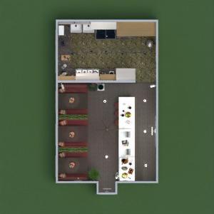 floorplans mobílias decoração cozinha iluminação reforma cafeterias sala de jantar arquitetura estúdio 3d