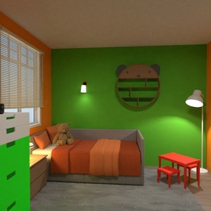 floorplans furniture decor bedroom kids room lighting 3d
