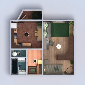 floorplans butas baldai dekoras vonia miegamasis svetainė virtuvė apšvietimas renovacija namų apyvoka sandėliukas prieškambaris 3d