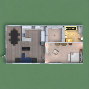 floorplans apartment kitchen outdoor 3d