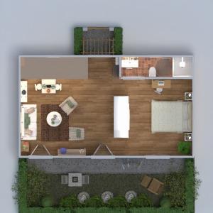 planos apartamento bricolaje dormitorio salón cocina 3d