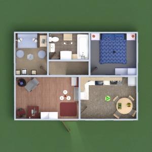 floorplans dom łazienka sypialnia pokój dzienny kuchnia 3d