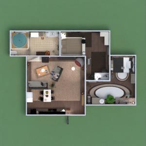 floorplans apartment furniture decor bathroom bedroom living room kitchen household architecture 3d