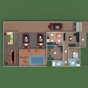 floorplans namas vonia svetainė garažas virtuvė valgomasis 3d