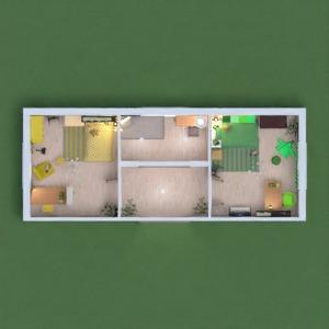 floorplans baldai dekoras miegamasis vaikų kambarys аrchitektūra 3d
