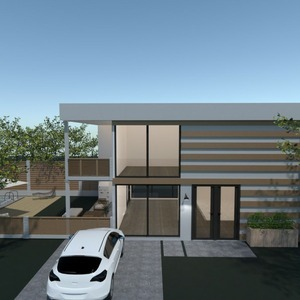 floorplans dom taras na zewnątrz krajobraz architektura 3d