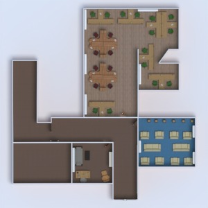 planos muebles despacho estudio descansillo 3d