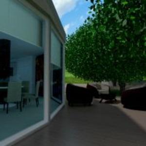 floorplans namas terasa baldai dekoras miegamasis svetainė virtuvė valgomasis аrchitektūra studija 3d