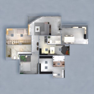 floorplans appartement décoration eclairage rénovation 3d