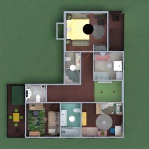 planos casa terraza muebles exterior habitación infantil 3d