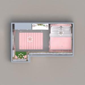 floorplans meble wystrój wnętrz sypialnia oświetlenie 3d