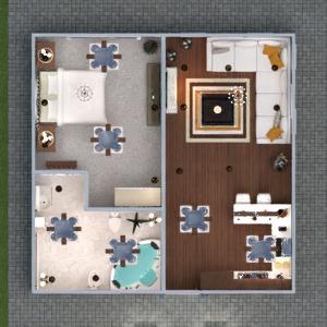 floorplans apartment furniture decor bathroom bedroom living room 3d