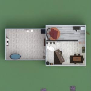 floorplans casa quarto cozinha iluminação sala de jantar 3d