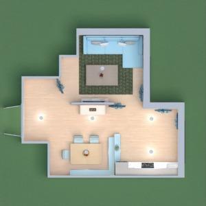 floorplans salon cuisine salle à manger 3d