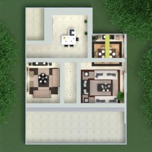 floorplans house furniture decor living room kitchen lighting 3d
