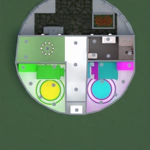 floorplans 露台 户外 家电 3d