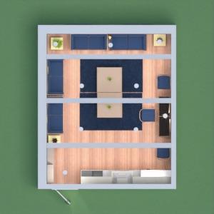 floorplans casa quarto cozinha sala de jantar 3d