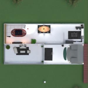 floorplans namas terasa miegamasis virtuvė valgomasis 3d