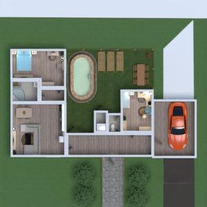 floorplans haus mobiliar schlafzimmer küche kinderzimmer 3d