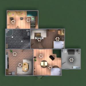 floorplans namas vonia miegamasis svetainė vaikų kambarys 3d