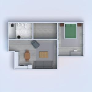 floorplans apartamento bricolaje cuarto de baño dormitorio salón cocina 3d
