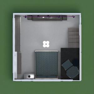 floorplans meubles décoration chambre à coucher chambre d'enfant bureau eclairage 3d