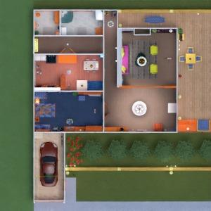 floorplans casa veranda arredamento garage esterno illuminazione famiglia 3d