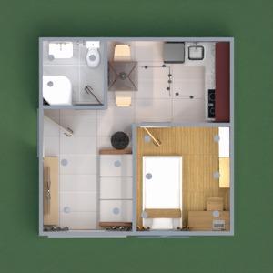 floorplans apartamento casa de banho quarto cozinha iluminação 3d