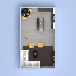floorplans décoration salon cuisine eclairage 3d