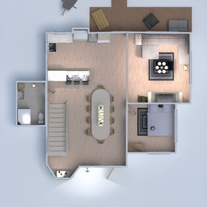 floorplans house living room kitchen dining room entryway 3d
