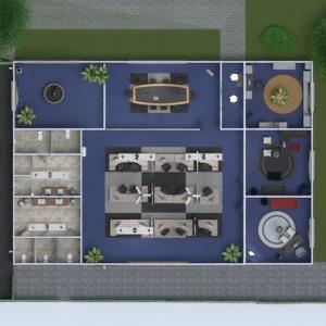 планировки мебель улица офис 3d