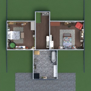 floorplans casa decoração casa de banho dormitório quarto 3d