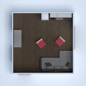floorplans wohnung haus mobiliar küche büro 3d