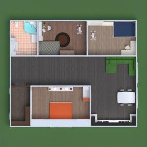 floorplans mieszkanie meble łazienka sypialnia pokój dzienny kuchnia pokój diecięcy jadalnia przechowywanie wejście 3d
