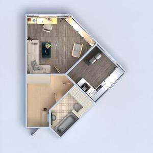 floorplans mieszkanie sypialnia kuchnia 3d