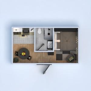 floorplans butas vonia miegamasis virtuvė studija 3d