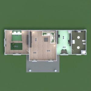 planos casa terraza decoración cuarto de baño dormitorio salón cocina exterior 3d