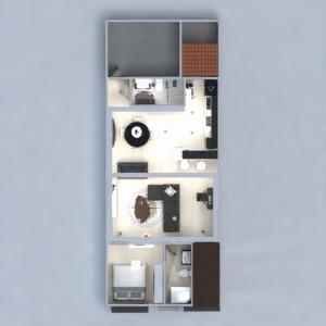 floorplans butas namas svetainė virtuvė 3d