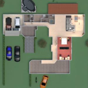 floorplans house outdoor dining room storage 3d