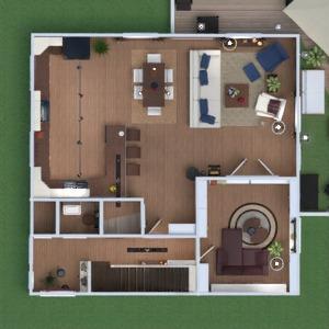 floorplans appartement maison salle de bains chambre à coucher salon cuisine salle à manger 3d