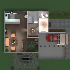 floorplans butas namas baldai dekoras vonia miegamasis svetainė garažas virtuvė eksterjeras vaikų kambarys valgomasis аrchitektūra prieškambaris 3d