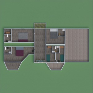 floorplans casa mobílias garagem cozinha quarto infantil 3d