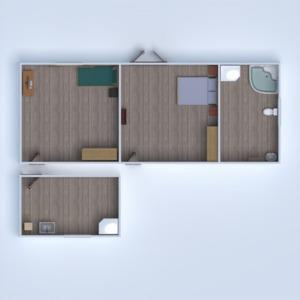 floorplans garagem quarto infantil sala de jantar 3d