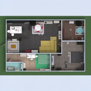 планировки квартира спальня 3d
