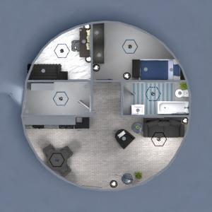 planos cuarto de baño salón cocina habitación infantil despacho 3d
