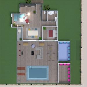 floorplans dom meble łazienka sypialnia pokój dzienny 3d