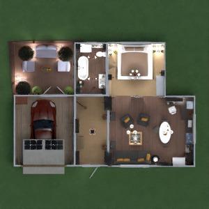 floorplans apartamento casa varanda inferior mobílias decoração banheiro quarto quarto garagem cozinha iluminação paisagismo sala de jantar patamar 3d