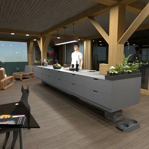 planos apartamento muebles cocina arquitectura 3d