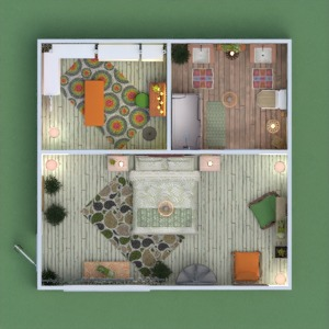 floorplans apartamento cuarto de baño dormitorio trastero 3d